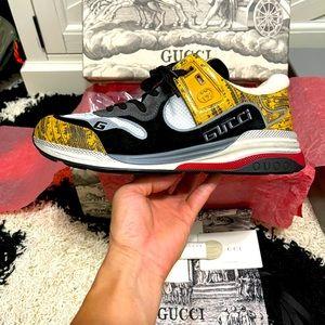 NIB Gucci Ultrapace Distressed Sneakers Multicolor